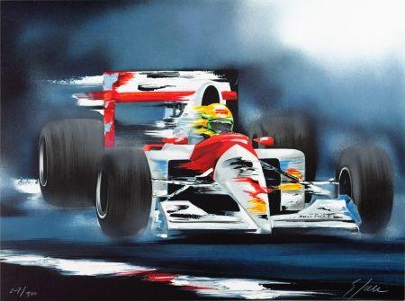 Lithographie Spahn - Ayrton Senna