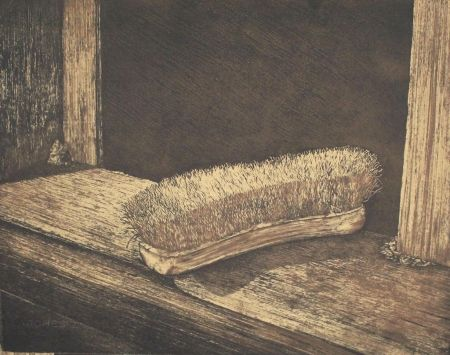 Lithographie Siegert - Bürste / Brush