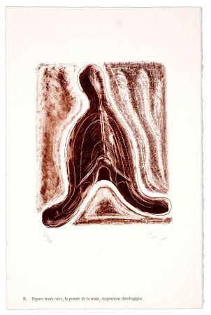 Lithographie Nørgaard - B. Figure mort-vive, la pensée de la main, suspension théologique