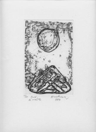 Gravure Alechinsky - B V V Le Maître