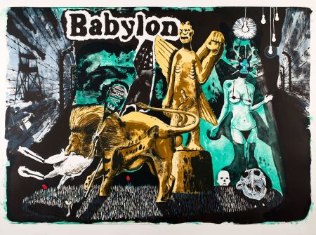 Lithographie Deroubaix - Babylon