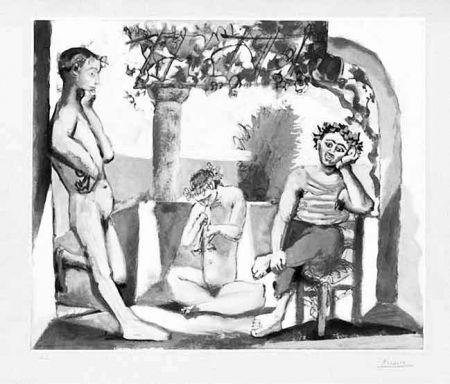 Eau-Forte Et Aquatinte Picasso - Bacchanale