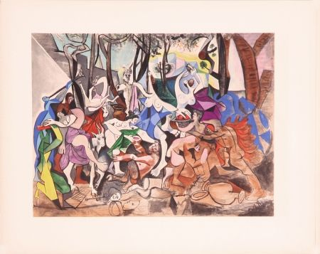 Lithographie Picasso - Bacchanale (After)