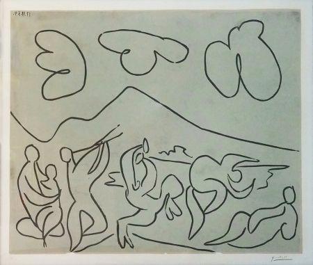 Linogravure Picasso - BACCHANALE (BLOCH 927)