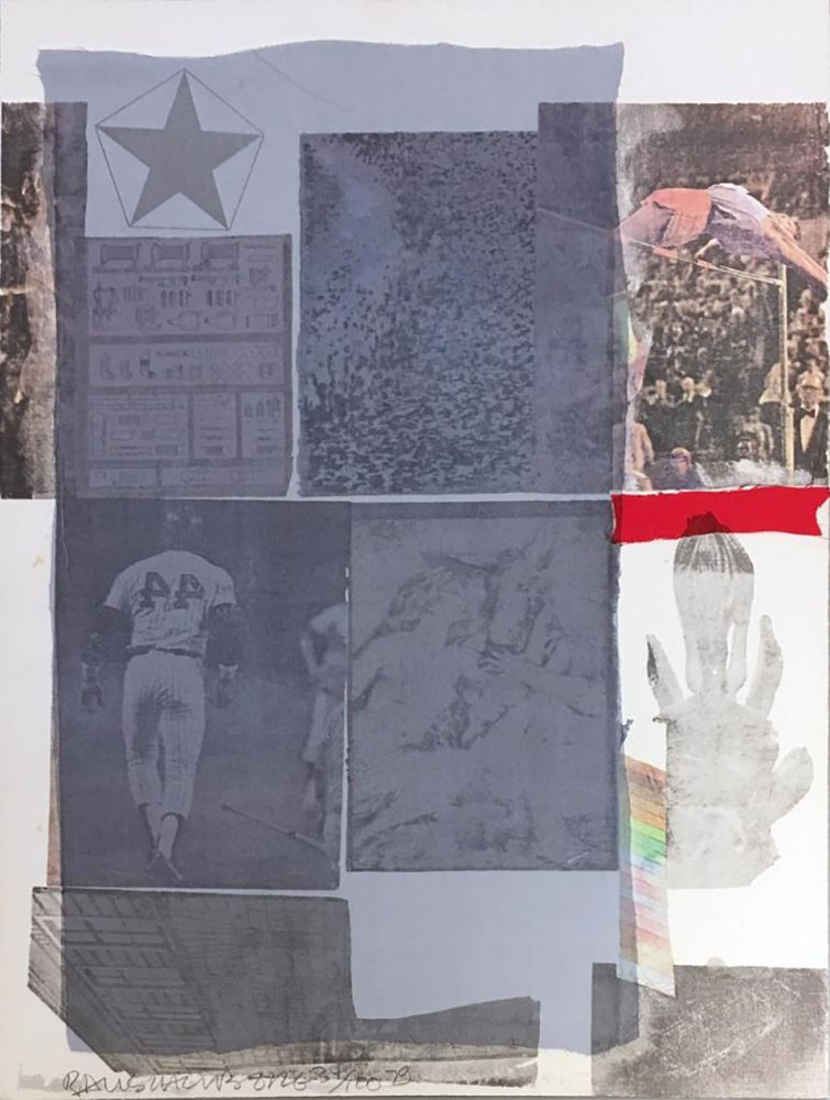 Lithographie Rauschenberg - Back Out