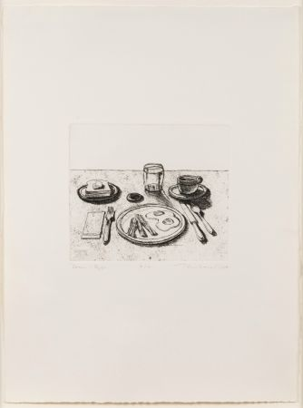 Gravure Thiebaud - Bacon and Eggs, from Delights