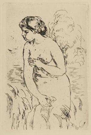 Gravure Renoir - Baigneuse debout à mi-jambes