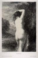 Lithographie Fantin-Latour - Baigneuse debout (3º planche)