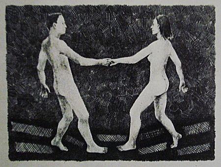 Lithographie Llimos - Bail croat