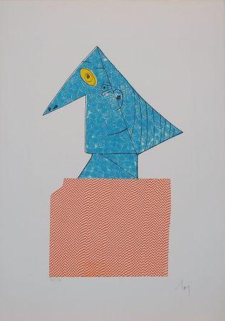Gravure Baj - Baj chez Picasso 1