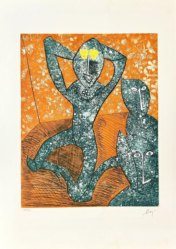 Gravure Baj - Baj chez Picasso 11,