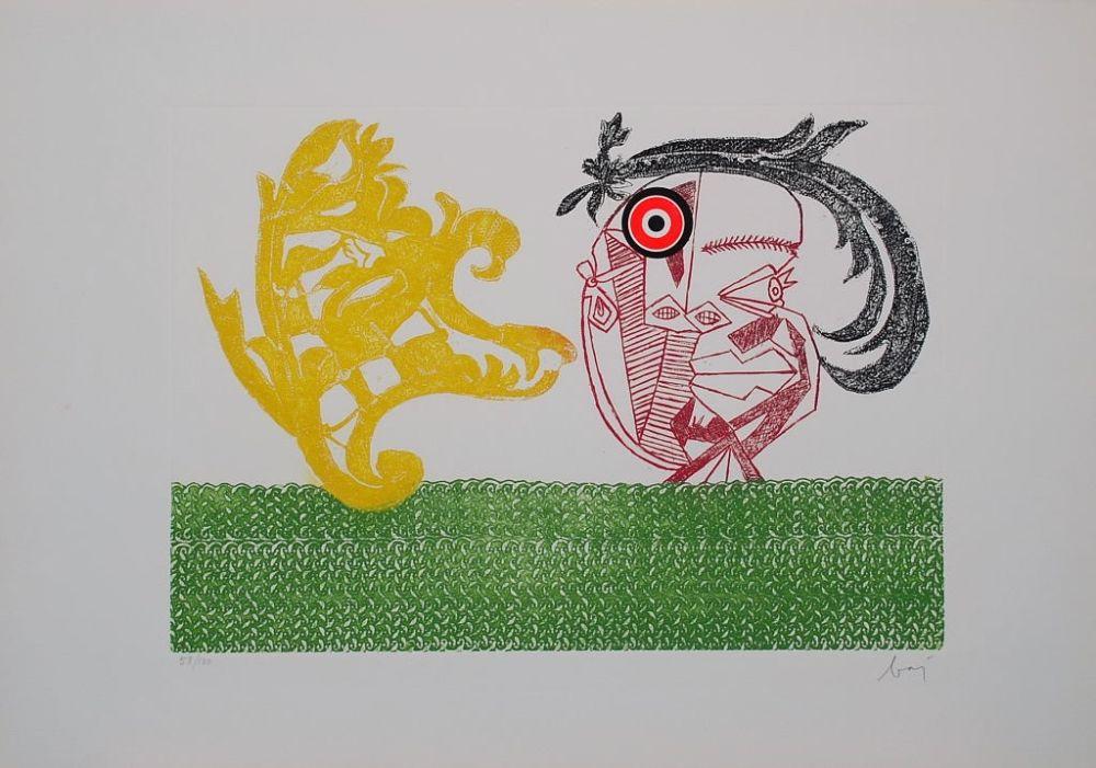 Gravure Baj - Baj chez Picasso 2