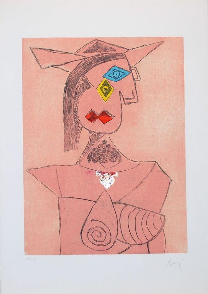 Gravure Baj - Baj chez Picasso 8