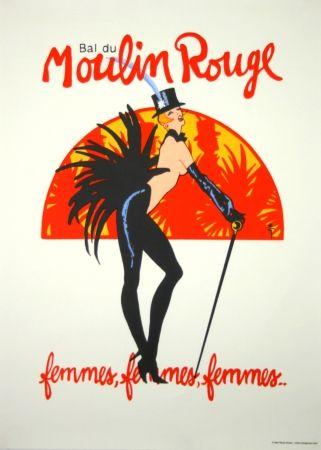 Sérigraphie Gruau - Bal du Moulin Rouge