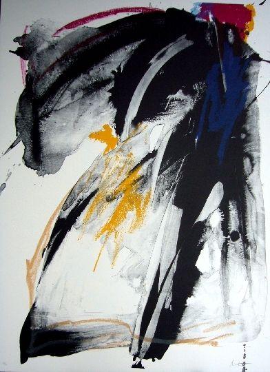 Lithographie Miotte - Ballade