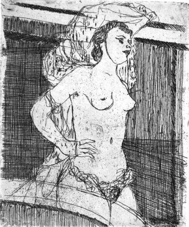 Eau-Forte Manfredi - Ballerina d'avanspettacolo