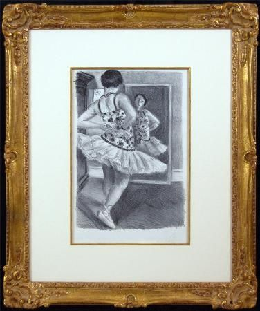 Lithographie Matisse - Ballerina Standing In Front of a Mirror