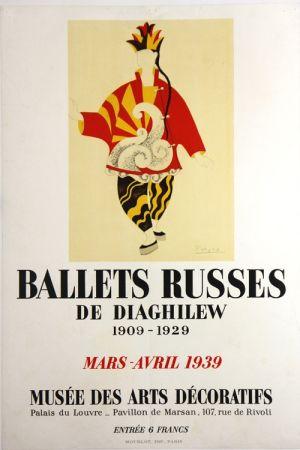 Lithographie Picasso - Ballets Russes de Diaghilew  Musee des Arts Decoratifs