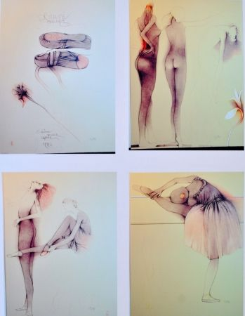 Lithographie Bruni - Ballett mit Cynthia