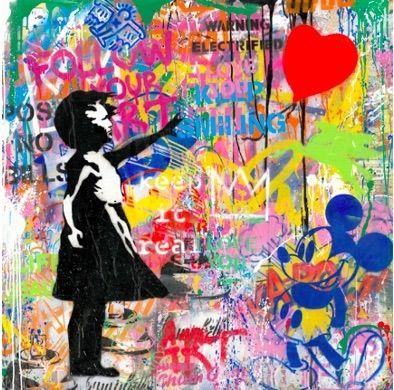 Sérigraphie Mr Brainwash -  Balloon Girl, 2020