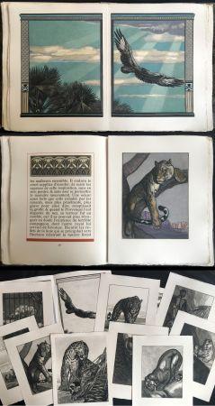 Livre Illustré Jouve - Balzac : UNE PASSION DANS LE DÉSERT. Illustrations de Paul Jouve (1949).