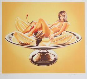 Lithographie Ramos - Banana Split