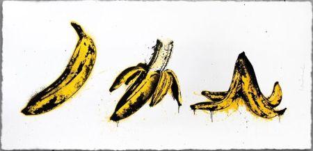 Sérigraphie Mr Brainwash - Banana Split (White)