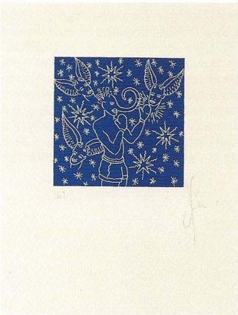 Lithographie Ucles - Barallar-se amb la consciència