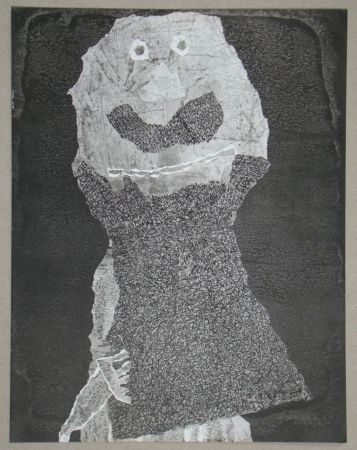 Pochoir Dubuffet - Barbe des perplexités, 1959