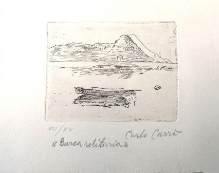 Eau-Forte Carra - Barca solitaria