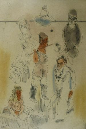 Eau-Forte Et Aquatinte Cuevas - Barrion chino II