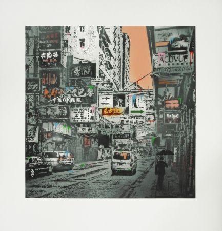 Sérigraphie Walker - Basking In The Glory - Hong Kong Street Scene #1