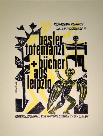 Gravure Sur Bois Grieshaber - Basler Totentanz Und Bücher Aus Leipzig