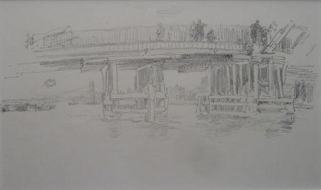 Lithographie Whistler - Battersea Bridge