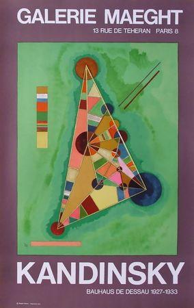 Affiche Kandinsky - BAUHAUS DE DESSAU. Affiche originale en lithographie (1965).