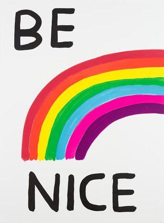 Sérigraphie Shrigley - Be Nice