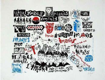 Sérigraphie Villeglé - Beatles