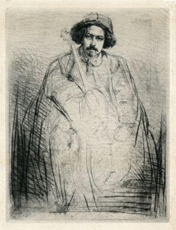 Gravure Whistler - Becquet - Plate 8 from A Series of Sixteen Etchings