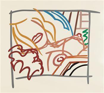 Sérigraphie Wesselmann - Bedroom Blonde Doodle with Photo