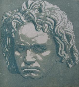Gravure Sur Bois Beltrand - Beethoven