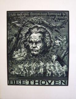 Gravure Sur Bois Belot  - Beethoven