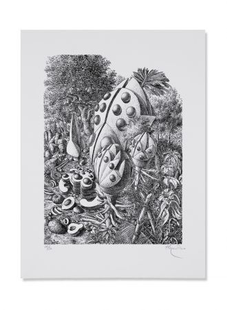Lithographie Alejandro - Beetle Forest