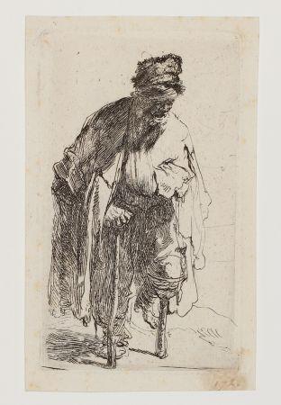 Gravure Rembrandt - Beggar with a wooden Leg
