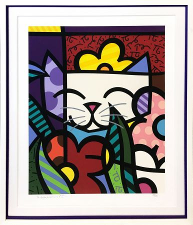 Sérigraphie Britto - BEHIND THE FLOWERS