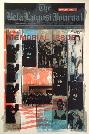 Sérigraphie Tilson - Bela Lugosi Journal B