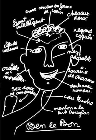 Sérigraphie Vautier - '' Ben le Bon ''