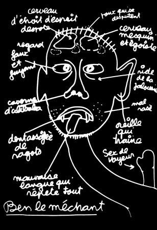 Sérigraphie Vautier - '' Ben le Méchant ''