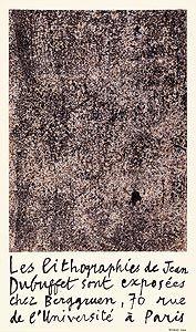 Lithographie Dubuffet - Berggruen