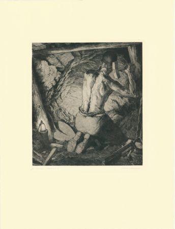 Gravure Kätelhön - Bergmann / Miner