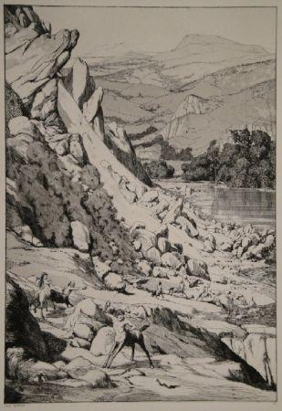 Eau-Forte Et Aquatinte Klinger - Bergsturz